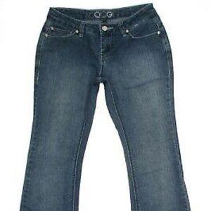 Coogi Womens Jeans Size 3/4 Bootcut Mid Rise Denim
